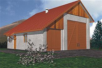 Projekt garażu BR-059
