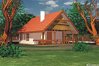 Projekt domu letniskowego BR-096