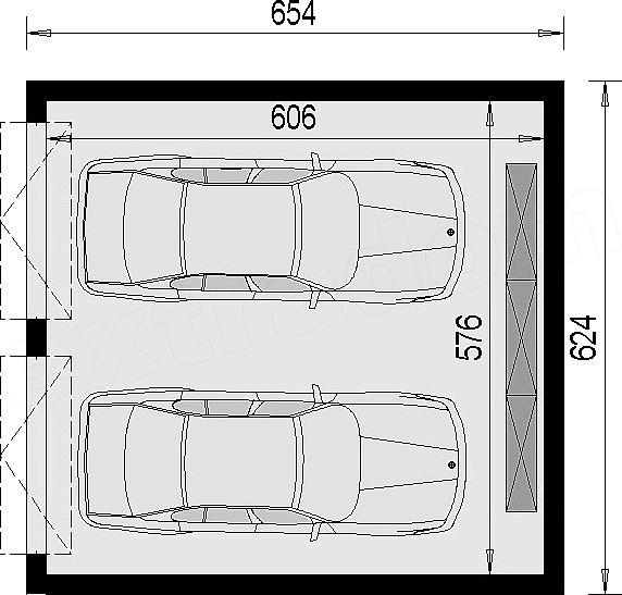 Niesamowite Projekt garażu G 2.1 (bez okien) 34,9 m2 - koszt budowy - EXTRADOM UL64