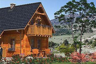 Projekt domu L-56 Dom z bali