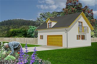 Projekt garażu WB-3884