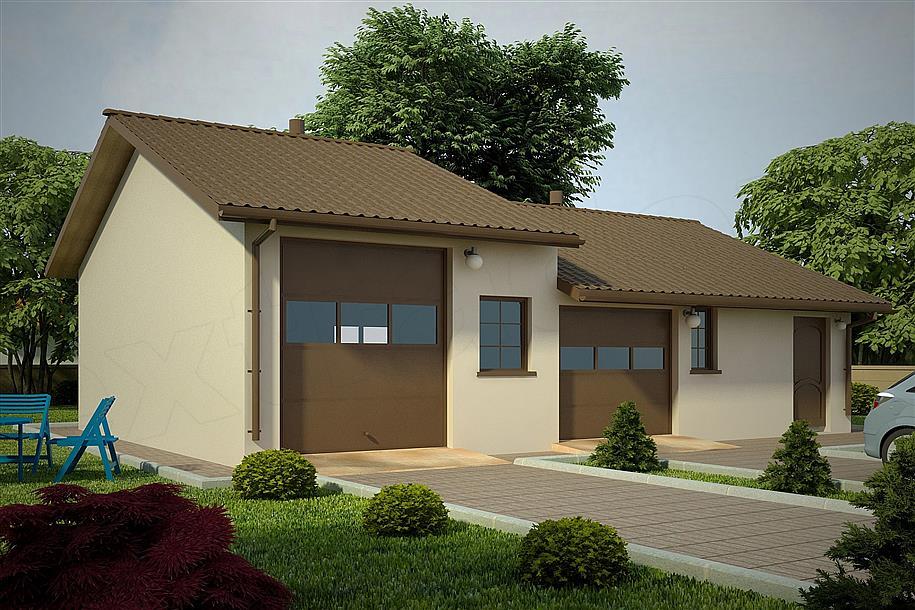 Projekt Garażu G88 Budynek Garażowo Gospodarczy 8688 M2 Koszt