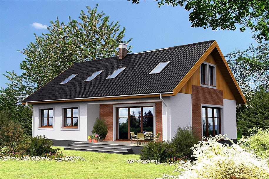 Каркасный дом с террасой, проект ремикс.