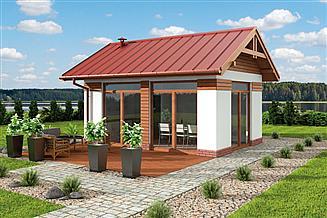 Projekt kuchni letniej KL6 Kuchnia letnia / Bud. gospodarczy