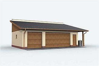 Projekt garażu G158 garaż trzystanowiskowy
