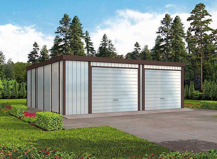 Projekt Domu Gb40 Garaż Blaszany Dwustanowiskowy Domiportapl
