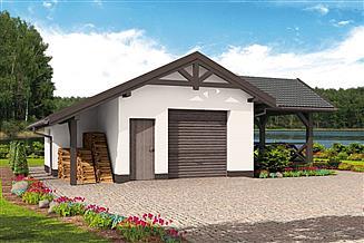 Projekt budynku gospodarczego G53 szkielet drewniany budynek gospodarczy