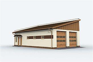 Projekt garażu G161 garaż czterostanowiskowy