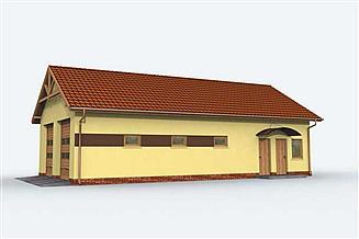 Projekt garażu G162 garaż czterostanowiskowy z pomieszczeniami gospodarczymi
