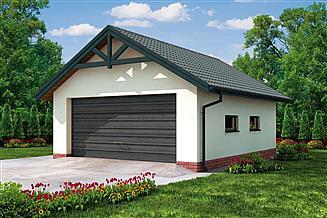 Projekt garażu G2 Szkielet drewniany