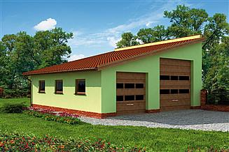Projekt garażu G220 garaż dwustanowiskowy
