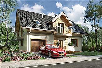 Projekt domu Tarot - murowana – beton komórkowy