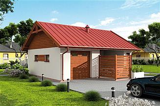 Projekt budynku gospodarczego G322 budynek gospodarczy