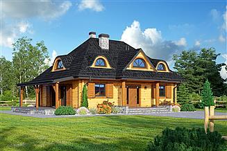 Projekt domu Chmielniki małe dw