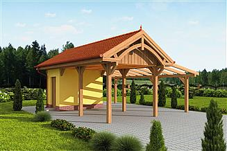 Projekt budynku gospodarczego G67 wiata garażowa