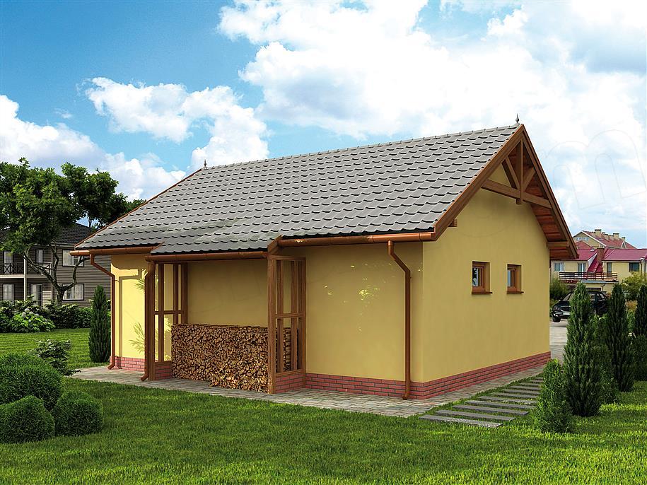 Projekt Garażu G68 Garaż Dwustanowiskowy 5208 M2 Koszt Budowy