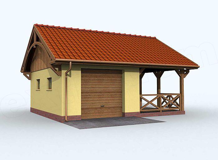 Projekt Domu G70 Garaż Jednostanowiskowy Z Altaną Domiportapl