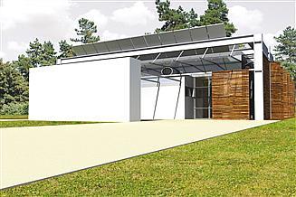 Projekt domu Frame (z wiatą)