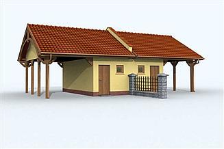 Projekt budynku gospodarczego G89 bliźniak (jeden segment), projekty garaży