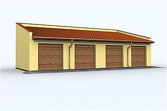 Projekt garażu G94 garaż czterostanowiskowy