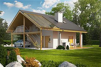 Projekt garażu Garaż G31 (z wiatą)