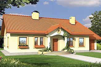 Projekt domu Sielanka A garaż PS