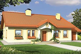 Projekt domu Sielanka 2A garaż PS