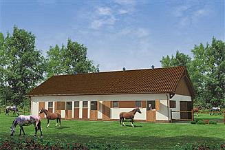 Projekt stajni S20 Stajnia dla koni - 10 boksów