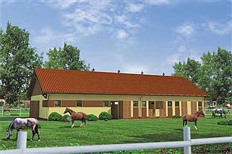 Projekt stajni S21 Stajnia dla koni - 12 boksów