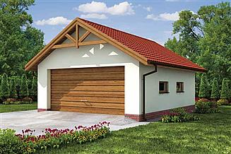 Projekt garażu G2 garaż dwustanowiskowy
