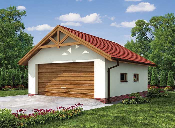 Projekt Garażu G2 Garaż Dwustanowiskowy 45 M2 Koszt Budowy Extradom