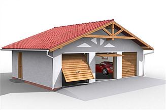 Projekt garażu G5 garaż trzystanowiskowy