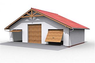 Projekt garażu G7 garaż trzystanowiskowy