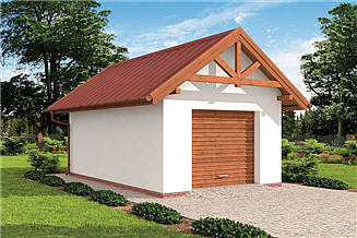 Projekt garażu G10 garaż jednostanowiskowy