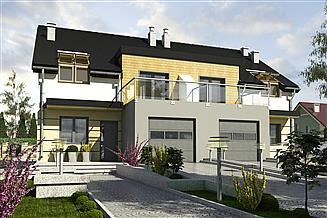 Projekt domu Gwarek II z garażem 1-st. bliźniak [A-BL1]