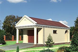 Projekt garażu Garaż 28 - murowana – beton komórkowy