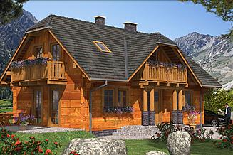 Projekt domu L-18 Dom z bali