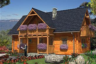 Projekt domu L-30 Dom z bali