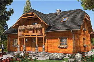 Projekt domu L-31 Dom z bali
