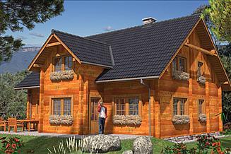 Projekt domu L-70 Dom z bali