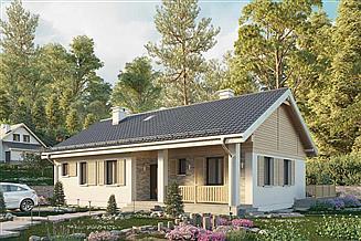 Projekt domu Modrzyk 2 Eko - murowana – beton komórkowy