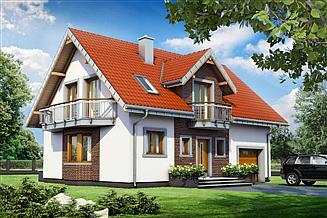 Projekt domu Zofia Mini Eko - murowana – beton komórkowy