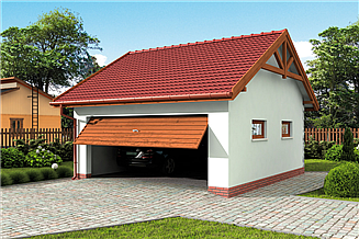 Projekt garażu G30 garaż dwustanowiskowy