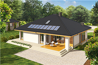 Projekt domu Flori III G1 (wersja A) economic