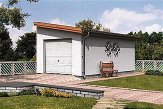 Projekt garażu WB-3871