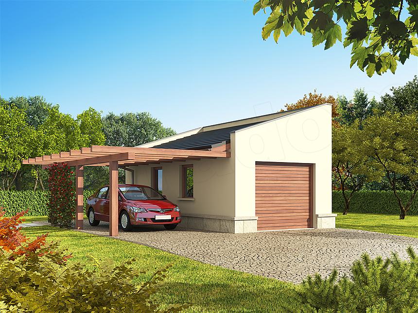 Projekt Domu Garaż G33 Domiportapl