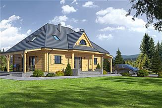 Projekt domu Chmielniki małe dw7k