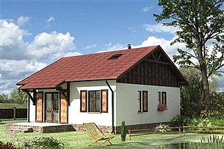 Projekt domu Czyżyk - szkielet drewniany lekki