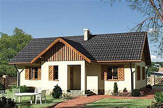 Projekt domu Jemioła - szkielet drewniany lekki