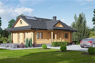 Projekt domu letniskowego Zawoja dw 7